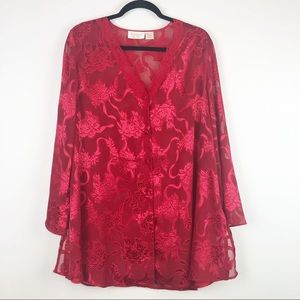 Vintage Gold Label Red Night Gown